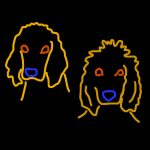 Danny Mooney 'A design for Jarvis and Joe in neon' iPad drawing