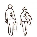 Danny Mooney 'Walking away' iPad drawing