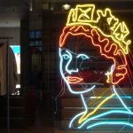 Danny Mooney and Philip Oakely 'Queen Elizabeth II, Neon portrait' 1.6m Neon