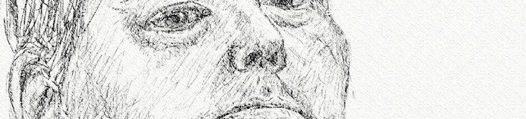 Danny Mooney 'Self portrait 3' Digital drawing