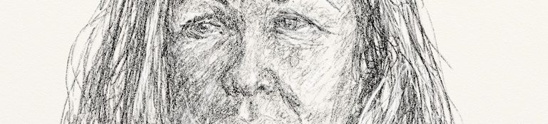 Danny Mooney 'Cathy Hytner 18.2.13' Digital drawing