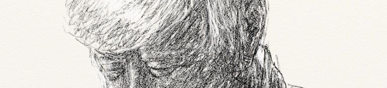 Danny Mooney 'Peter Heald 18.2.13' Digital drawing