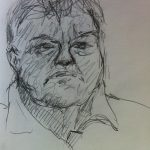 Danny Money 'Drawing from Venice sketchbook' Graphite on paper