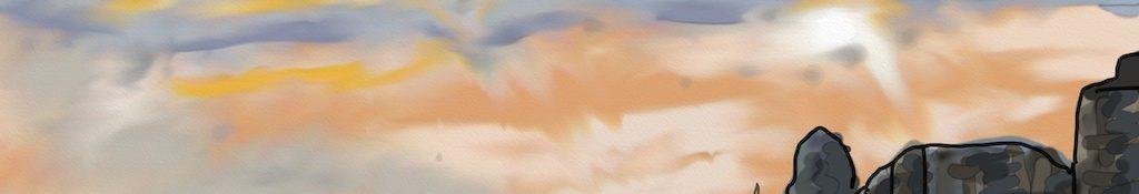 Danny Mooney 'Marine Court, sunset' Digital drawing
