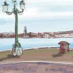 Danny Mooney 'Riva Schiavone' Digital drawing