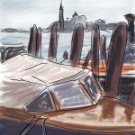 Danny Mooney 'Water taxi 2' Digital drawing