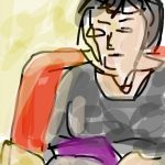 Danny Mooney 'Woman reading' digital drawing