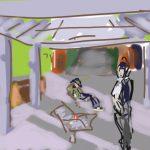 Danny Mooney 'St Leonards Warrior Square Station' Digital drawing
