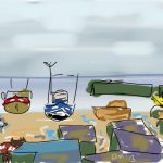 Danny Mooney 'View of the Stade from the Jerwood Gallery Hastings' Digital drawing