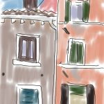 Danny Mooney 'View out of the window of the Cassa Della Sensa' digital drawing