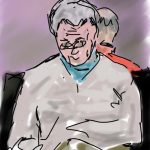 Danny Mooney 'Waiting at Marco Polo Airport' Digital drawing