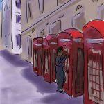 Danny Mooney 'Phone boxes' Digital drawing