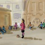 Danny Mooney 'Busker, Bath' Digital Painting