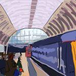 Danny Mooney 'Paddington Station' Digital Drawing