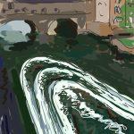 Danny Mooney 'Pulteney Wire, Bath I' Digital drawing