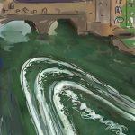 Danny Mooney 'Pulteney Wire, Bath II' Digital drawing