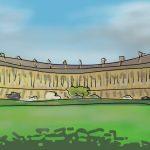 Danny Mooney 'Royal Crescent, Bath' Digital painting