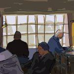 Danny Mooney 'The Saracens Head, Bath' Digital painting