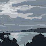 Danny Mooney 'From Spa Bridge, Scarborough' Digital painting
