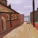 Danny Mooney 'Globe Street, Scarborough' Digital painting
