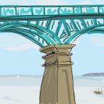Danny Mooney 'Spa Bridge, Scarborough' Digital painting