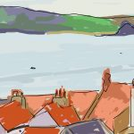 Danny Mooney 'Towards Filey, morning' Digital painting