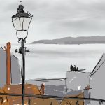Danny Mooney 'View from Long Greece Steps, Scarborough' Digital painting