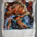 Danny Mooney 'Debate, 22/6/17' Oil on Wood, approx 10.7 x 8.8cm