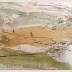 Danny Mooney 'Field, 4, April 17' Mixed media on paper 14.8 x 21 cm