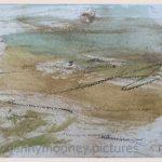 Danny Mooney 'Field, 5, April 17' Mixed media on paper 14.8 x 21 cm