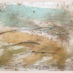 Danny Mooney 'Field, 6, April 17' Mixed media on paper 14.8 x 21 cm