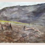 Danny Mooney 'Flag, April 17' Mixed media on paper 43 x 53 cm