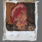 Danny Mooney 'Head Shot, 22/6/17' Oil on Wood, approx 10.7 x 8.8cm