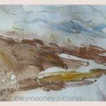 Danny Mooney 'Of the soil, 1, April 17' Mixed media on paper 43 x 53 cm