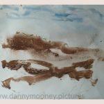 Danny Mooney 'Of the soil, 2, April 17' Mixed media on paper 43 x 53 cm