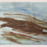 Danny Mooney 'Of the soil, 3, April 17' Mixed media on paper 43 x 53 cm