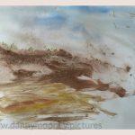Danny Mooney 'Of the soil, 5, April 17' Mixed media on paper 43 x 53 cm