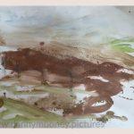 Danny Mooney 'Of the soil, 8, April 17' Mixed media on paper 43 x 53 cm
