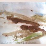 Danny Mooney 'Of the soil, 9, April 17' Mixed media on paper 43 x 53 cm