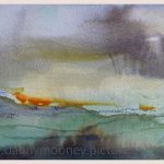 Danny Mooney 'Sundown, Palamartsa, 2, April 17' Mixed media on paper 14.8 x 21 cm