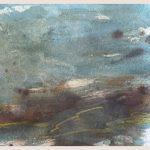 Danny Mooney 'Wind, 1, April 17' Mixed media on paper 14.8 x 21 cm