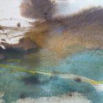 Danny Mooney 'Wind, 2, April 17' Mixed media on paper 14.8 x 21 cm