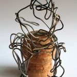 Danny Mooney 'Germany 4, England 1' Iron Wire and Cork 8.5 x 5 x 5 cm
