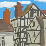 Danny Mooney 'Hill Street, Hastings' Digital painting