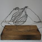 Danny Mooney 'Ivan' Iron wire and wood 19.5 x 27.5 x 17 cm