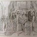 Danny Mooney 'Seaview Choir Xmas, 2013' Graphite on paper 14.8 x 21 cm