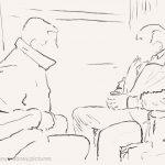 Danny Mooney 'Night train to Sofia, 25/4/17' iPad painting #APAD