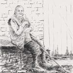 Danny Mooney 'Watching the world go by, Palamartsa, 24/4/17' iPad painting #APAD