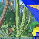 Danny Mooney 'Pavilion, Majorelle gardens' 6/2/2014 digital painting