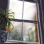 Danny Mooney 'Studio window' 13/2/2014 Digital painting